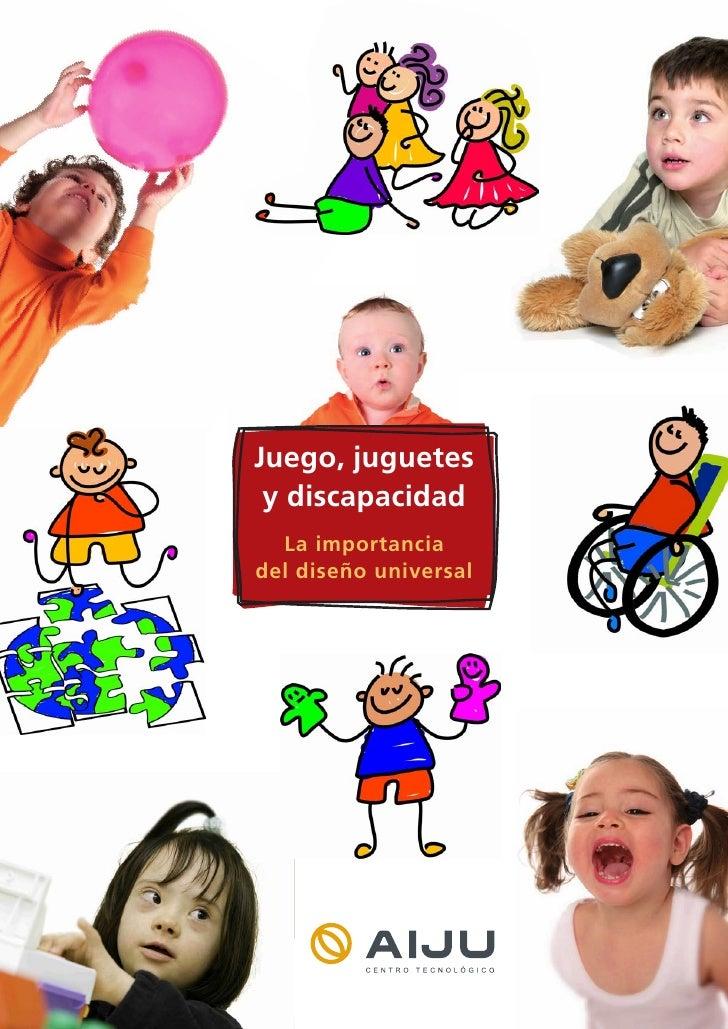 Juego, juguete y discapacidad