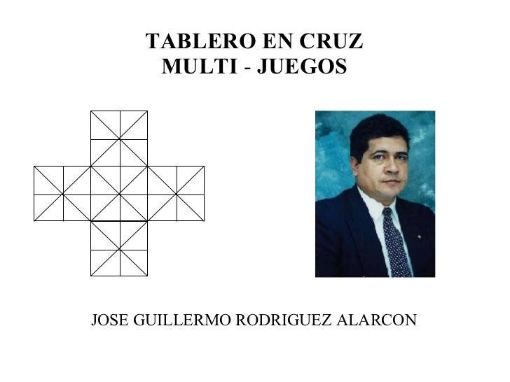 TABLERO EN CRUZ MULTI  -  JUEGOS JOSE GUILLERMO RODRIGUEZ ALARCON