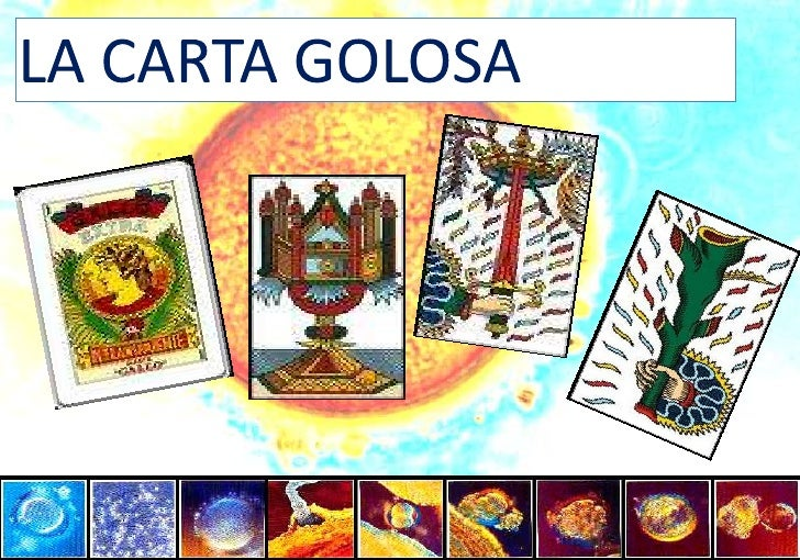 LA CARTA GOLOSA<br />