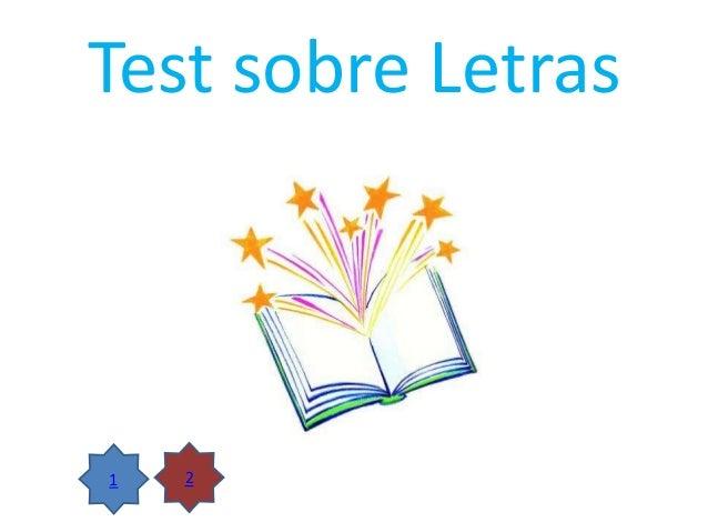 Test sobre Letras  1  2