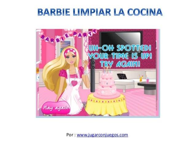 Juego barbie limpiar la cocina - Limpiar la casa de barbie ...