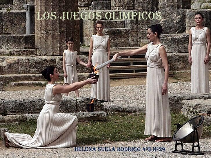 LOS JUEGOS OLIMPICOS HELENA SUELA RODRIGO 4ºd Nº29