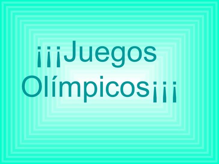 Juegos Olímpicos (por Pilar)