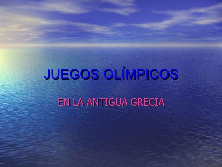 Juegos olímpicos de Grecia
