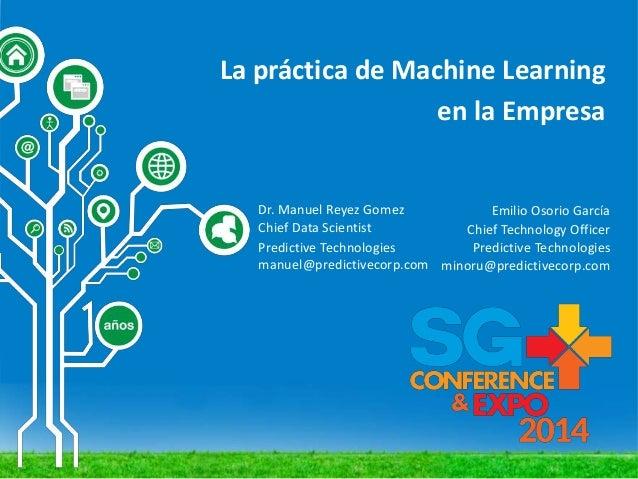 La Práctica de Machine Learning en la empresa