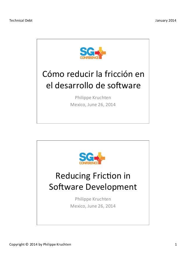 Cómo reducir la fricción en el desarrollo de software
