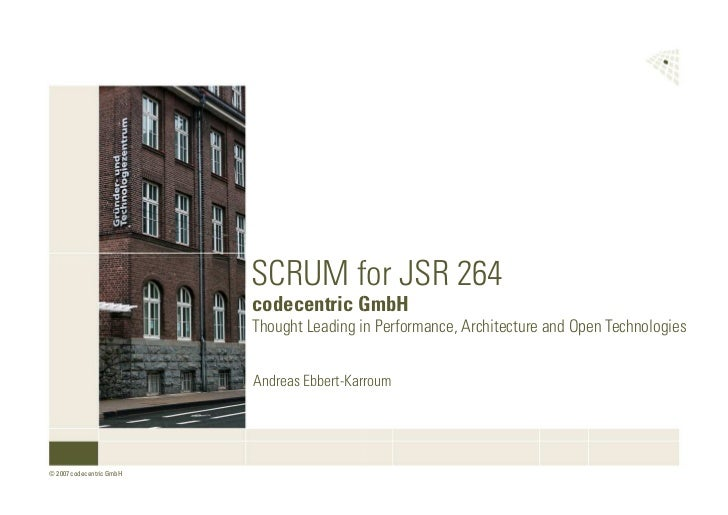 SCRUM for JSR 264 - Talk at JUG Cologne on 2008-08-11