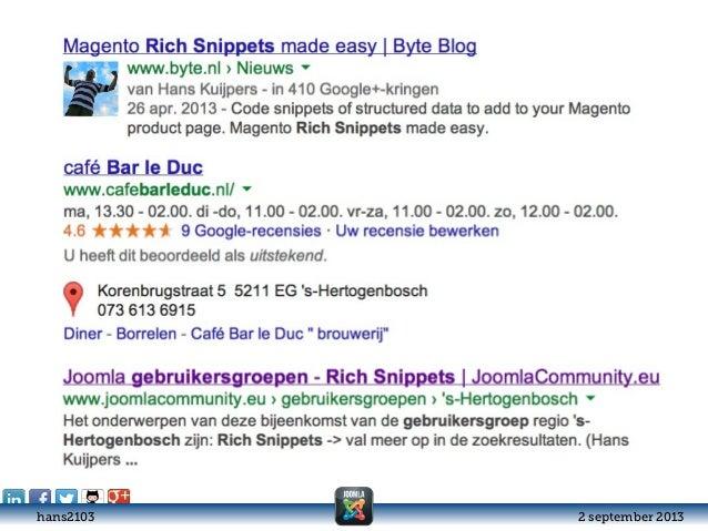 Rich Snippets in Joomla - #JUG073