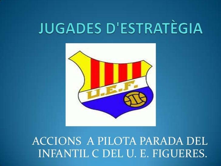 ACCIONS A PILOTA PARADA DEL INFANTIL C DEL U. E. FIGUERES.