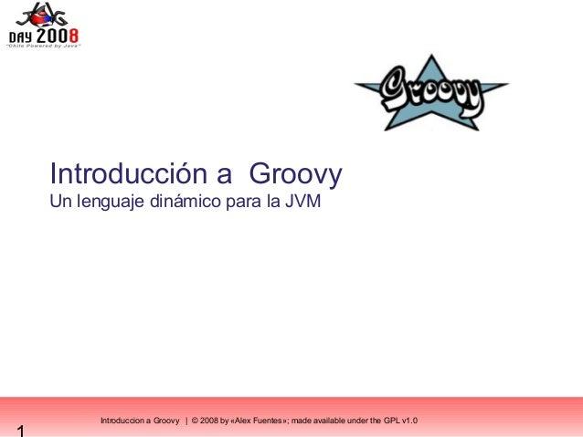 Introduction a  Groovy