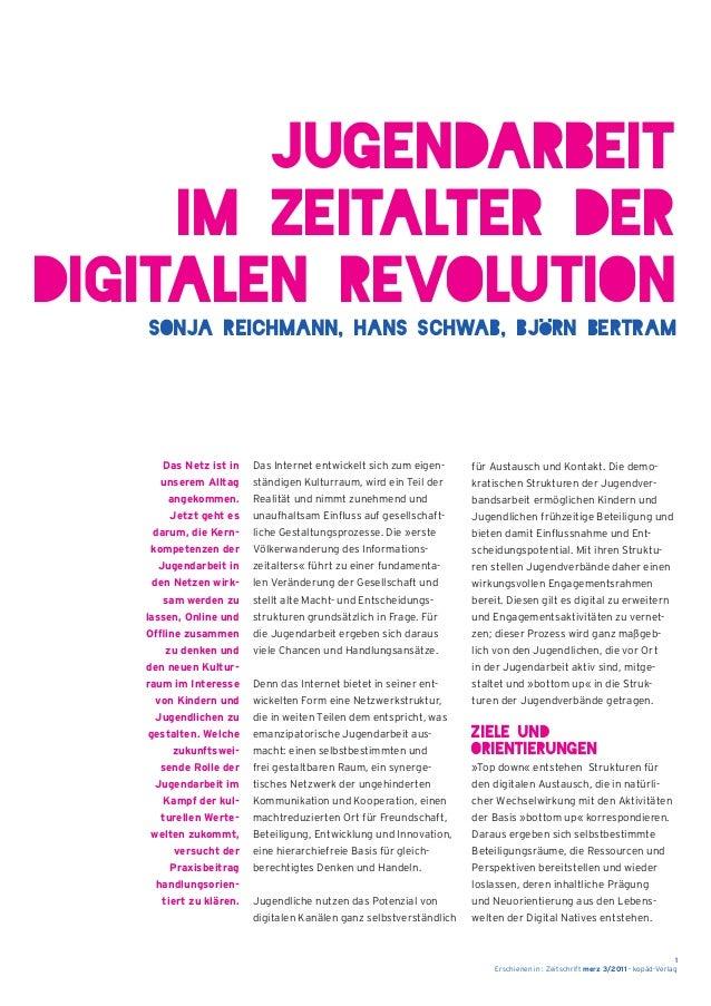Erschienen in : Zeitschrift merz 3/2011 - kopäd-Verlag 1 Das Internet entwickelt sich zum eigen- ständigen Kulturraum, wir...