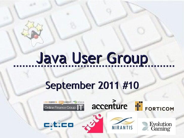 Java User Group September 2011 #10