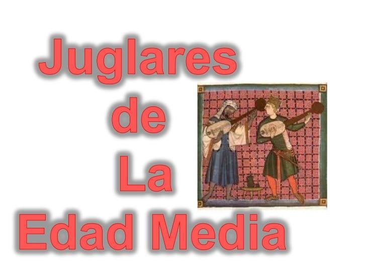Juglares de la Edad Media