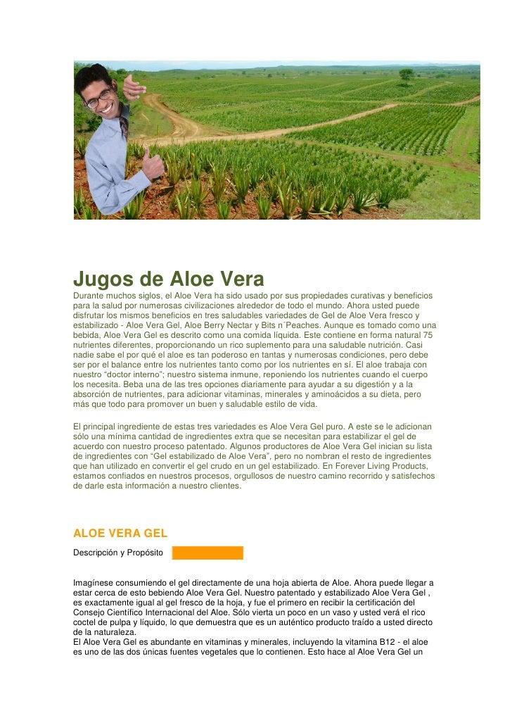 Jugos de Aloe Vera Durante muchos siglos, el Aloe Vera ha sido usado por sus propiedades curativas y beneficios para la sa...