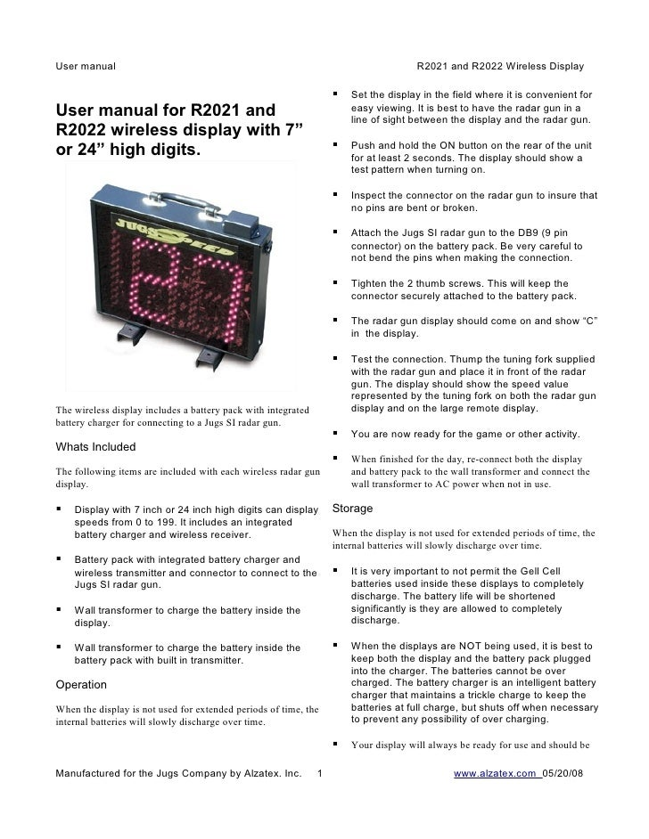 User manual                                                                           R2021 and R2022 Wireless Display    ...