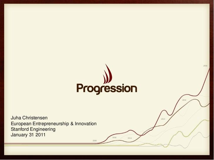 Juha ChristensenEuropean Entrepreneurship & InnovationStanford EngineeringJanuary 31 2011