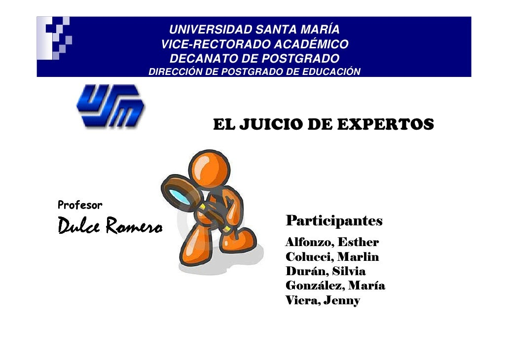 UNIVERSIDAD SANTA MARÍA            VICE-RECTORADO ACADÉMICO             DECANATO DE POSTGRADO           DIRECCIÓN DE POSTG...