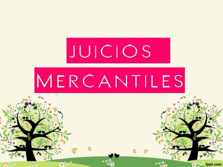 Juicios Mercantiles