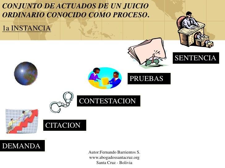 CONJUNTO DE ACTUADOS DE UN JUICIOORDINARIO CONOCIDO COMO PROCESO.1a INSTANCIA                                             ...