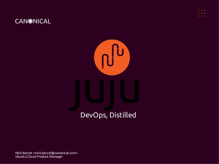 Juju DevOps Distilled, OW2con11, Nov 24-25, Paris