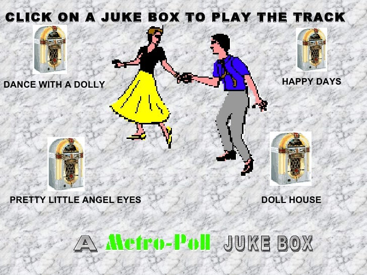 DANCE WITH A DOLLY HAPPY DAYS PRETTY LITTLE ANGEL EYES A JUKE BOX DOLL HOUSE CLICK ON A JUKE BOX TO PLAY THE TRACK