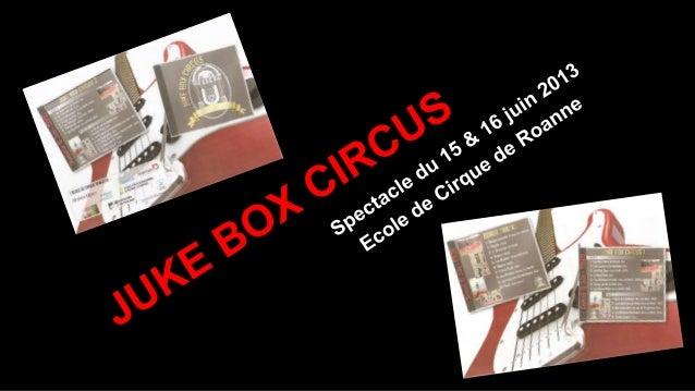 Remerciements Je remercie tous les adhérents de l'Ecole de Cirque de Roanne, d'avoir préparé et participé au spectacle JUK...
