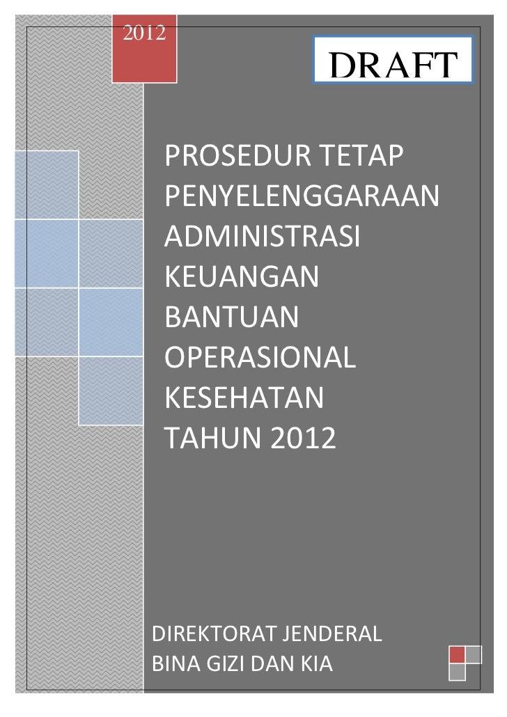 Juknis keuangan bok 2012