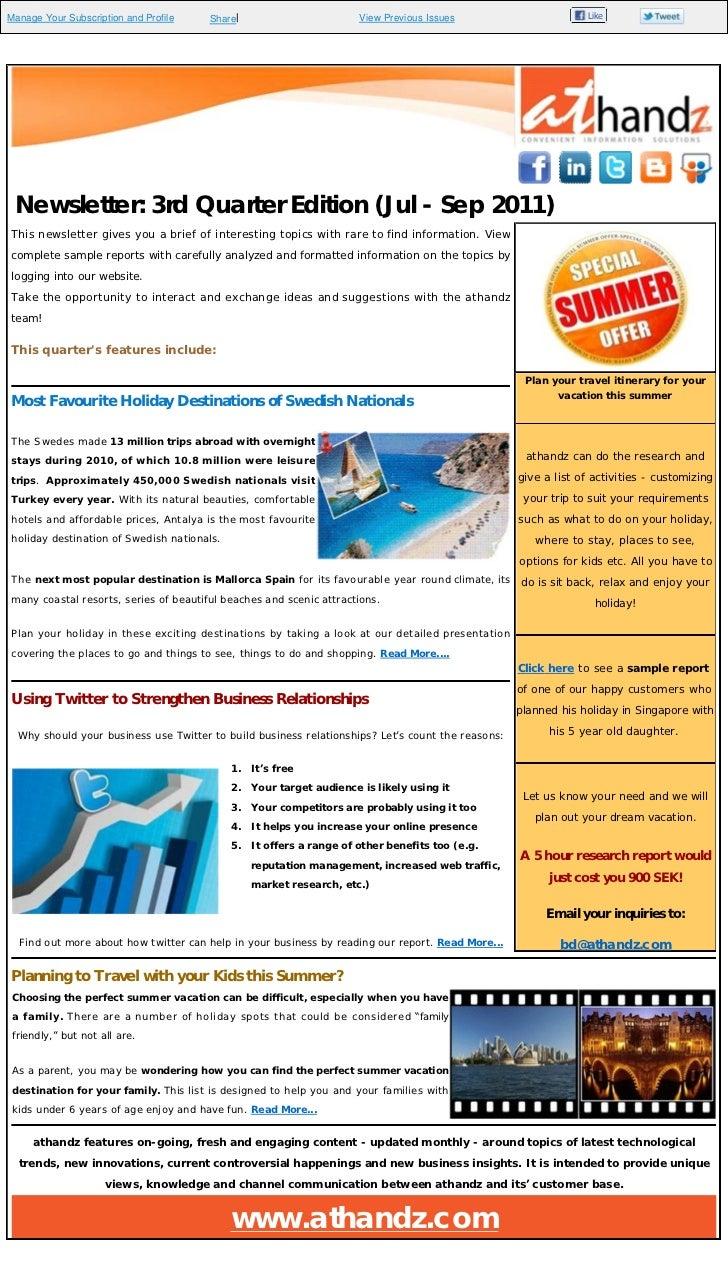 athandz Newsletter July-Sep 2011