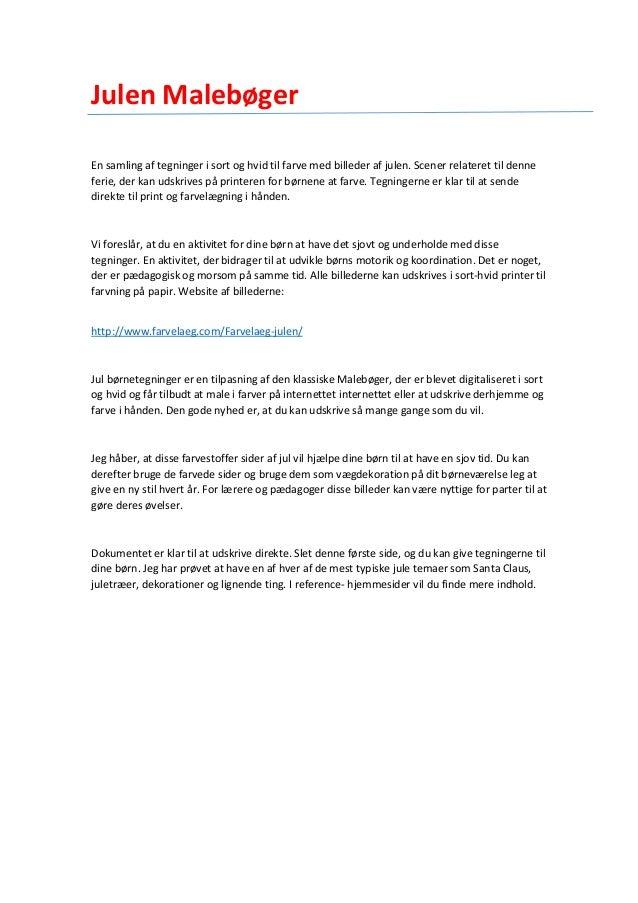 Julen Malebøger - www.farvelaeg.com