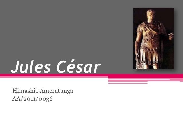Jules César Himashie Ameratunga AA/2011/0036