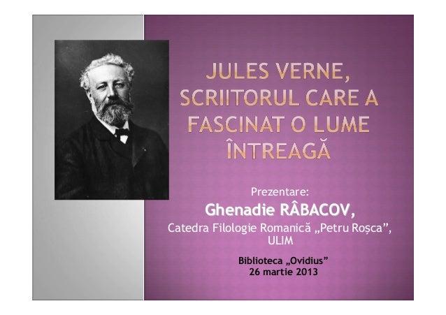 """Prezentare:      Ghenadie RÂBACOV,Catedra Filologie Romanică """"Petru Roșca"""",                   ULIM            Biblioteca """"..."""