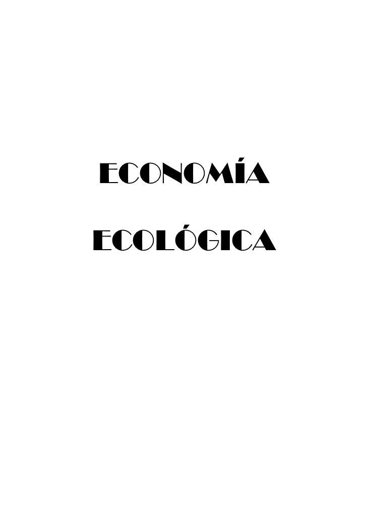ECONOMÍAECOLÓGICA