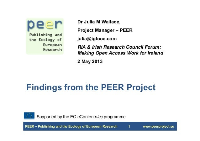 Making Open Access Work for Ireland: Dr Julia M Wallace - IRC