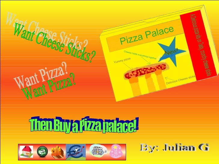 Want Pizza? Want Cheese Sticks? Then Buy a Pizza palace! By: Julian G sale