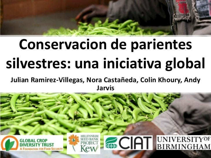 Conservacion de parientessilvestres: una iniciativa globalJulian Ramirez-Villegas, Nora Castañeda, Colin Khoury, Andy     ...