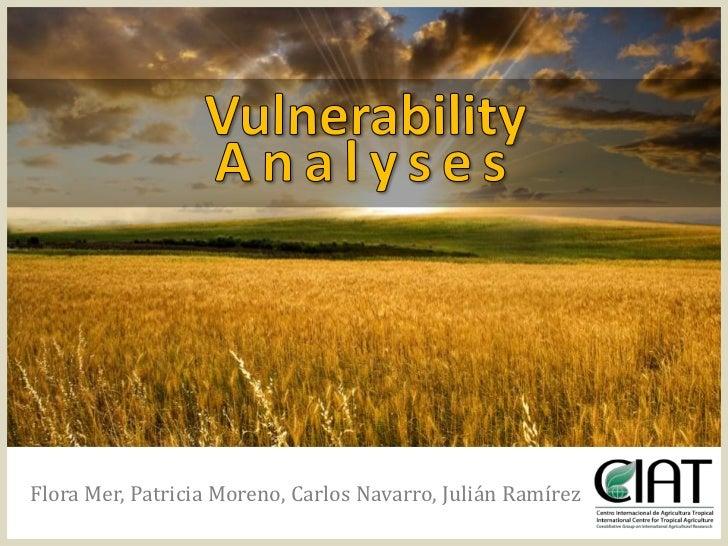 Julian R - Vulnerability analyses progress CIAT April 2012