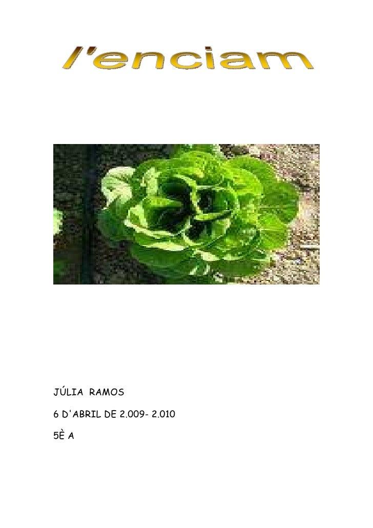 JÚLIA RAMOS  6 D'ABRIL DE 2.009- 2.010  5È A