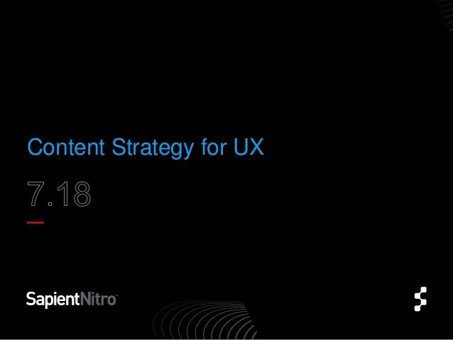 Content strategy for UX