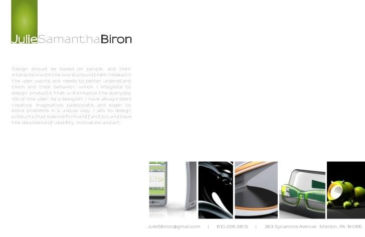Julie Biron    Design Portfolio