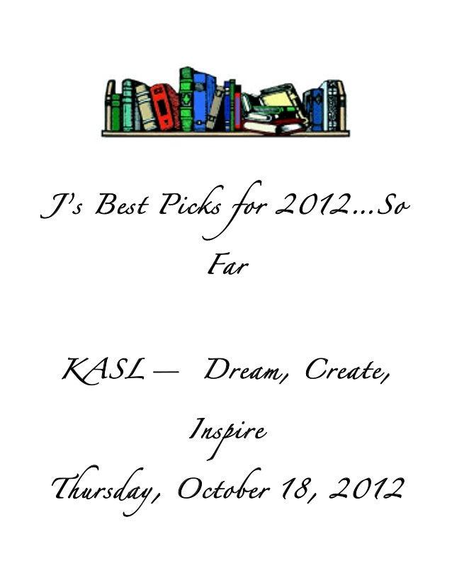 Julies best picks 2012