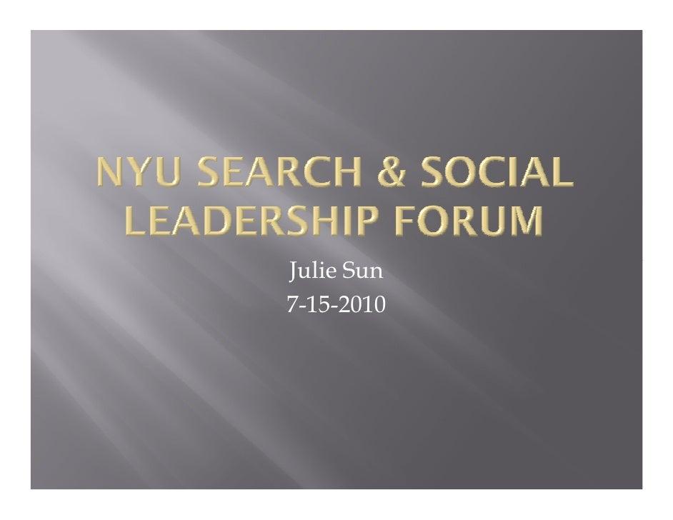Real Time Search & Social - BDI 7/15/2010 Search & Social Leadership Forum