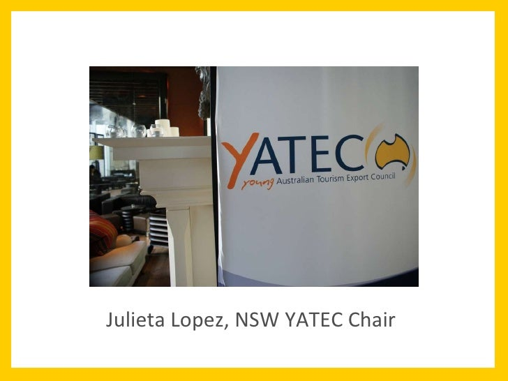 Julieta Lopez, NSW YATEC Chair