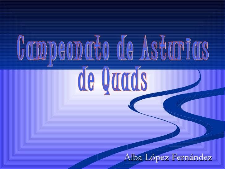 Alba López Fernández Campeonato de Asturias  de Quads