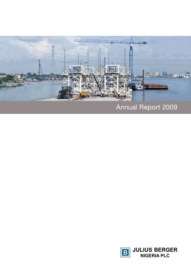 Julius Berger annual report 2009