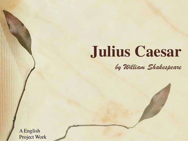 Julius Caesar by William Shakespeare  A English Project Work
