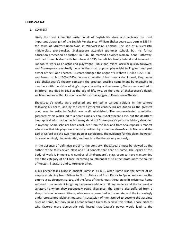 thesis for julius caesar