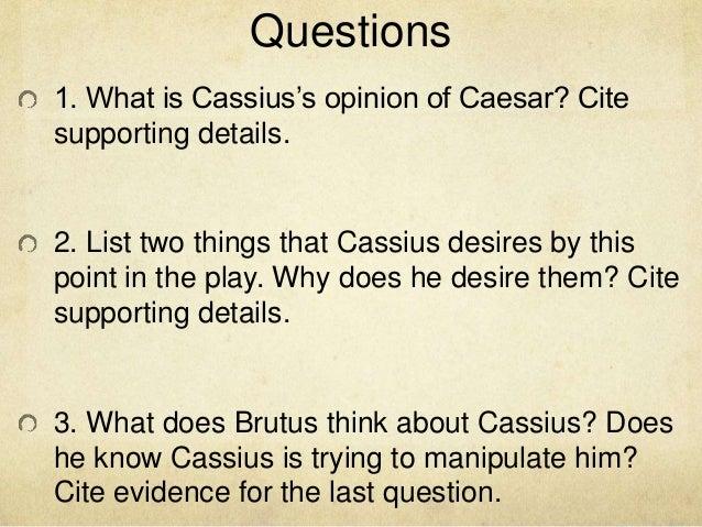 Julius Caesar question.....?