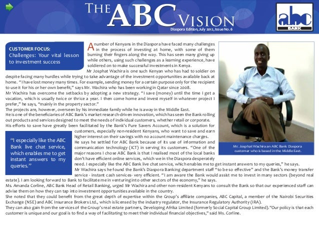 The ABC Vision Diaspora Edition July 2012