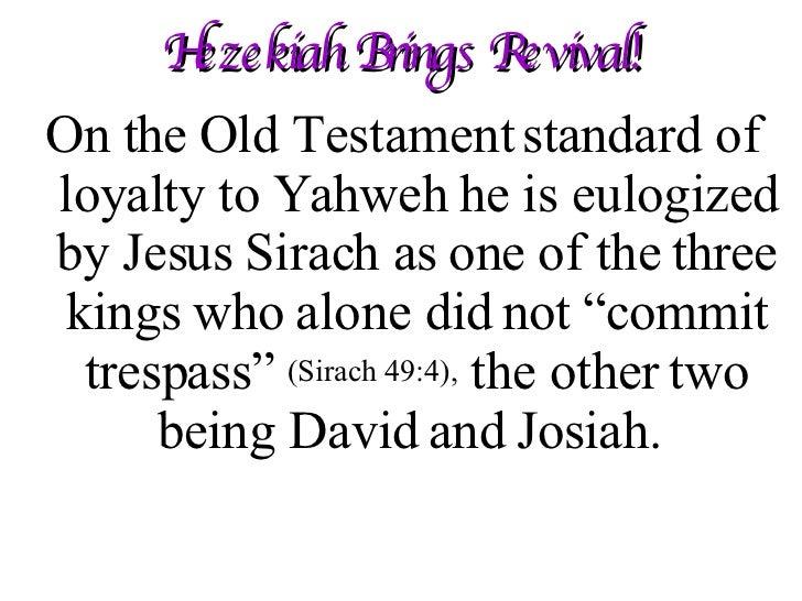 July 13-19 Hezekiah Brings Revival