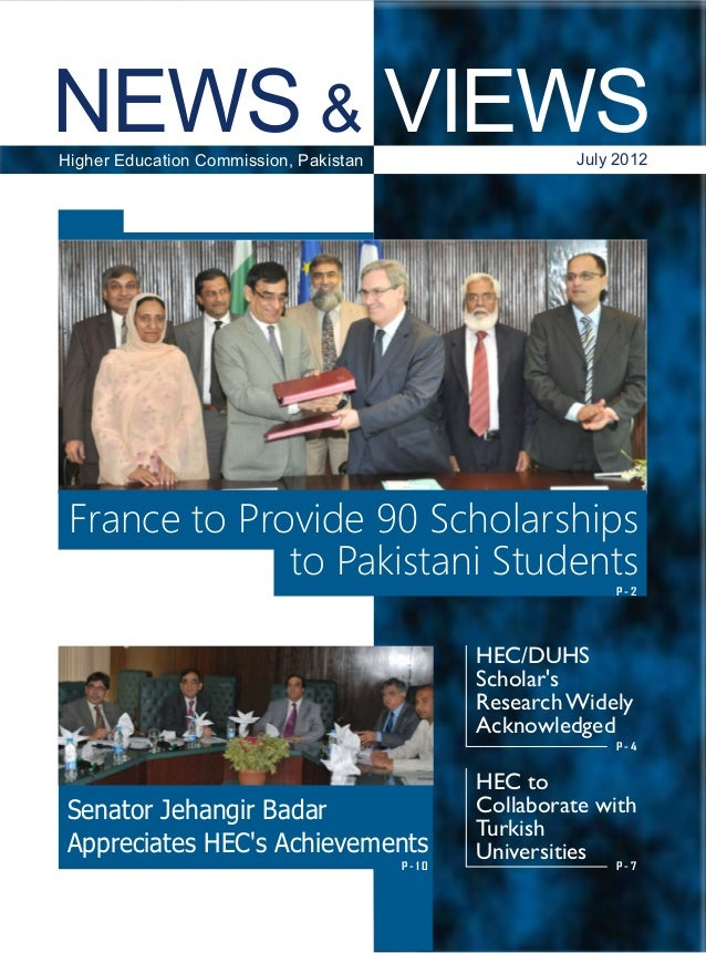 NEWS & VIEWS, HEC Pakistan, July 2012
